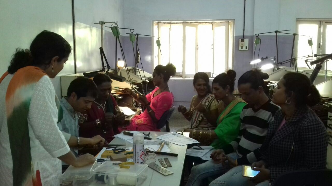 Transgenders attending Skill Development workshops during URJITA